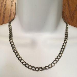 Double Silver Gunmetal Chain